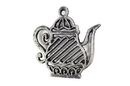 Handcrafted Model Ships K-0267-Silver Rustic Silver Cast Iron Teapot Trivet 9&Quot;