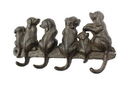 Handcrafted Model Ships K-0630-Cast-Iron Cast Iron Dog Wall Hooks 8&Quot;