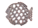 Handcrafted Model Ships K-0719-RC Rustic Copper Cast Iron Big Fish Trivet 8&Quot;