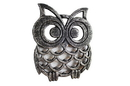 Handcrafted Model Ships K-0758-Silver Rustic Silver Cast Iron Owl Trivet 8&Quot;