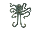 Handcrafted Model Ships K-0878-bronze Antique Bronze Cast Iron Decorative Wall Mounted Octopus Hooks 6