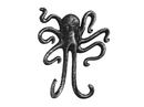 Handcrafted Model Ships K-0878-silver Antique Silver Cast Iron Decorative Wall Mounted Octopus Hooks 6