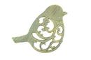 Handcrafted Model Ships K-0900-Bronze Antique Seaworn Bronze Cast Iron Bird Trivet 8&Quot;