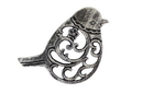Handcrafted Model Ships K-0900-Silver Rustic Silver Cast Iron Bird Trivet 8&Quot;
