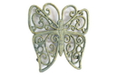 Handcrafted Model Ships K-0908-Bronze Antique Seaworn Bronze Cast Iron Butterfly Trivet 8&Quot;