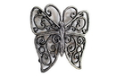 Handcrafted Model Ships K-0908-Silver Rustic Silver Cast Iron Butterfly Trivet 8&Quot;