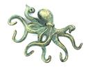 Handcrafted Model Ships K-0942-bronze Antique Bronze Cast Iron Octopus Hook 11