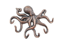 Handcrafted Model Ships K-0942-RC Rustic Copper Cast Iron Octopus Hook 11&Quot;