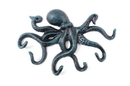 Handcrafted Model Ships K-0942-Seaworn Seaworn Blue Cast Iron Octopus Hook 11&Quot;