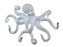 Handcrafted Model Ships K-0942-W Rustic Whitewashed Cast Iron Octopus Hook 11