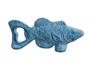 Handcrafted Model Ships K-10789-light-blue Rustic Light Blue Whitewashed Fish Bottle Opener 5