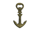 Handcrafted Model Ships K-1086B-gold Rustic Gold Cast Iron Anchor Bottle Opener 5