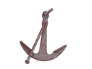 Handcrafted Model Ships K-1089-red Rustic Red Whitewashed Deluxe Cast Iron Anchor Paperweight 5