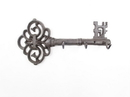 Handcrafted Model Ships K-1199-Cast-Iron Cast Iron Vintage Key Wall Mounted Key Hooks 11&Quot;
