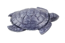 Handcrafted Model Ships K-1283-Solid-Dark-Blue-pw Rustic Dark Blue Cast Iron Decorative Turtle Paperweight 4&Quot;