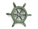 Handcrafted Model Ships K-1293-bronze Antique Bronze Cast Iron Ship Wheel Decorative Paperweight 4