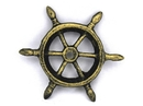 Handcrafted Model Ships K-1293-gold Antique Gold Cast Iron Ship Wheel Decorative Paperweight 4