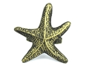 Handcrafted Model Ships K-1303-gold Antique Gold Cast Iron Starfish Napkin Ring 3