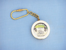 Handcrafted Model Ships K-221 Solid Brass Clinometer Level Key Chain 5