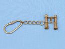 "Handcrafted Model Ships K-263 Solid Brass Binocular Key Chain 5"""