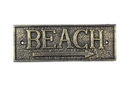 Handcrafted Model Ships K-49003-Gold Rustic Gold Cast Iron Beach Sign 9&Quot;