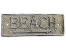 Handcrafted Model Ships K-49003-W Whitewashed Cast Iron Beach Sign 10