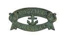 Handcrafted Model Ships K-49005-bronze Antique Seaworn Bronze Cast Iron Captains Quarters Sign 9