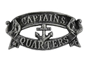 Handcrafted Model Ships K-49005-silver Antique Silver Cast Iron Captains Quarters Sign 9