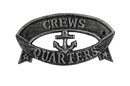 Handcrafted Model Ships k-49005B-silver Antique Silver Cast Iron Crews Quarters Sign 9