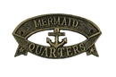 Handcrafted Model Ships k-49005C-gold Antique Gold Cast Iron Mermaid Quarters Sign 9
