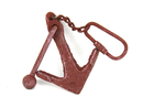 Handcrafted Model Ships K-49015B-red Red Whitewashed Cast Iron Anchor Key Chain 5