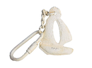 Handcrafted Model Ships K-49015D-AW Antique White Cast Iron Sailboat Key Chain 5