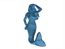 Handcrafted Model Ships K-516-dark-blue Rustic Dark Blue Whitewashed Cast Iron Mermaid Hook 6