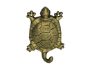 Handcrafted Model Ships K-528-gold Rustic Gold Cast Iron Turtle Hook 6