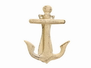 Handcrafted Model Ships K-62024-AG Aged White Cast Iron Decorative Anchor Door Knocker 6