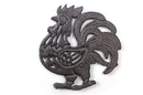 Handcrafted Model Ships K-9011-L-Cast-Iron Cast Iron Rooster Shaped Trivet 8&Quot;