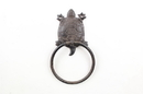 Handcrafted Model Ships K-9048-T-Cast-Iron Cast Iron Decorative Turtle Towel Holder 8&Quot;