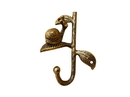 Handcrafted Model Ships K-9051-Gold Rustic Gold Cast Iron Decorative Snail Hook 6&Quot;