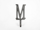 Handcrafted Model Ships K-9056-M-Cast-Iron Cast Iron Letter M Alphabet Wall Hook 6&Quot;