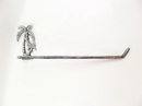 Handcrafted Model Ships K-9208-P-Silver Rustic Silver Cast Iron Palm Tree Wall Mounted Paper Towel Holder 17&Quot;