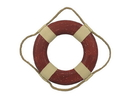 Handcrafted Model Ships Lifering-10-202-Xmas Vintage Red Decorative Lifering Christmas Ornament 10&Quot;