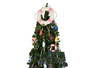Handcrafted Model Ships Lifering-15-310-XMASS Classic White Lifering with Pink Bands Christmas Tree Topper Decoration