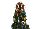 Handcrafted Model Ships Lifering-15-315-XMASS Vintage Red Lifering Christmas Tree Topper Decoration