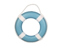 Handcrafted Model Ships Lifering-15inch-317 Light Blue Painted Decorative Lifering with White Bands 15