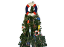 Handcrafted Model Ships Lifering15-307-XMASS American Lifering Christmas Tree Topper Decoration