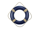 Handcrafted Model Ships Lifering20-406 Blue Decorative Decorative Life Ring Wall Plaque 20