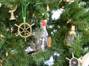 Handcrafted Model Ships MayflowerBottle5-XMASS Mayflower Ship in a Glass Bottle Christmas Tree Ornament