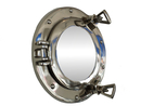 Handcrafted Model Ships MC-1962-10 CH - M Chrome Deluxe Class Porthole Mirror 8