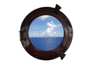 Handcrafted Model Ships MC-1963-12 AC - W Deluxe Class Antique Copper Porthole Window 12