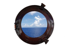 Handcrafted Model Ships MC-1964-15 AC - W Deluxe Class Antique Copper Porthole Window 15